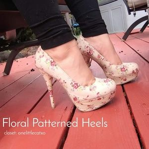 Dollhouse Floral Heels